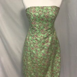Vineyard Vines Strapless Dress Pink and Green. 8
